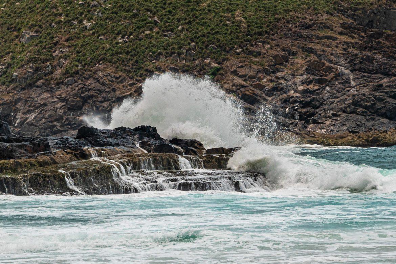 The mighty Pacific Ocean crashing ashore near Byron Bay.