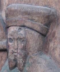 Choir stalls of the Novgorod travellers, Nikolaikirche, Stralsund, northern Germany, ca 1400
