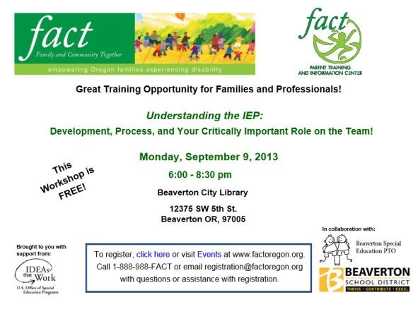 FACT IEP Training