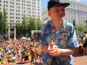Paul tại một sự kiện thế giới Record tại Trung tâm thành phố Portland