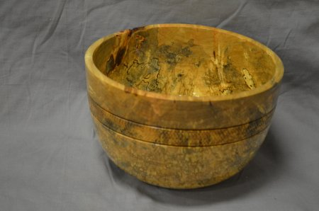 Spalted maple bowl by Don Bird