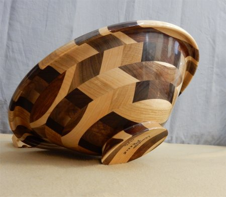Show & Tell bowl from a board by Leonard Pearce (bottom view)