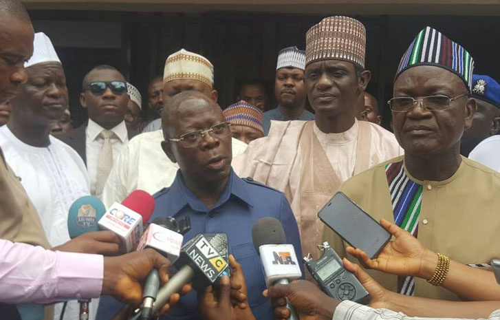 Image result for Oshiomhole, Ortom c