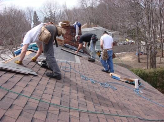 Roofers asphalt shingles