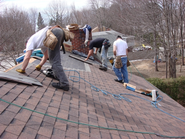 Roofers asphalt shingles