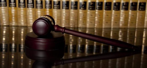 Gavel and legal books lawsuit court