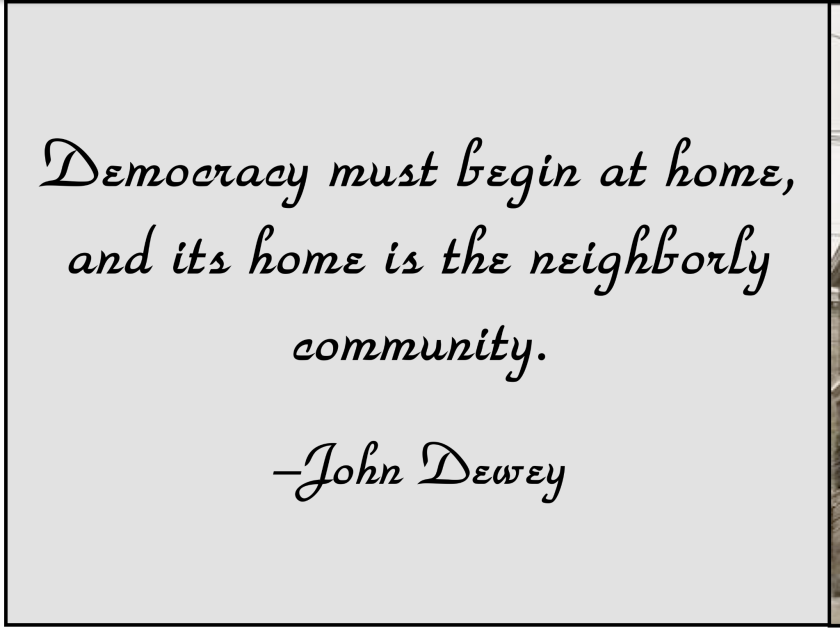 Democracy must begin at home