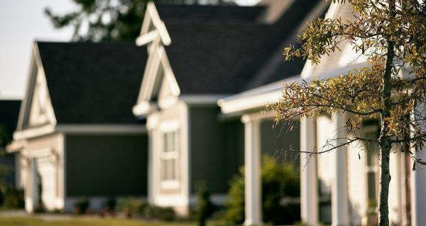 Suburban home blur street