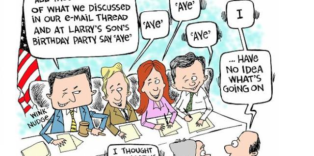 Board meeting HOA cartoon