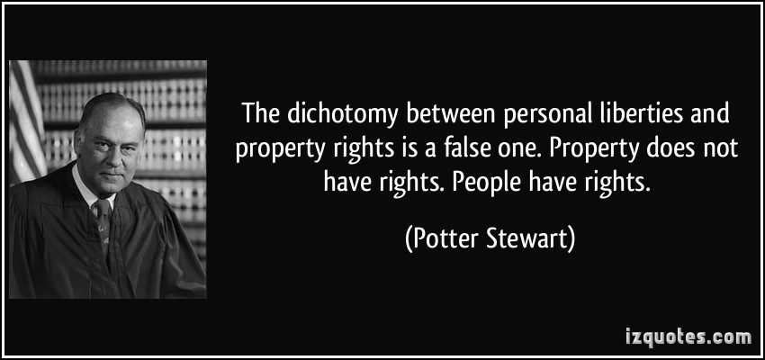 Property does not have rights People do