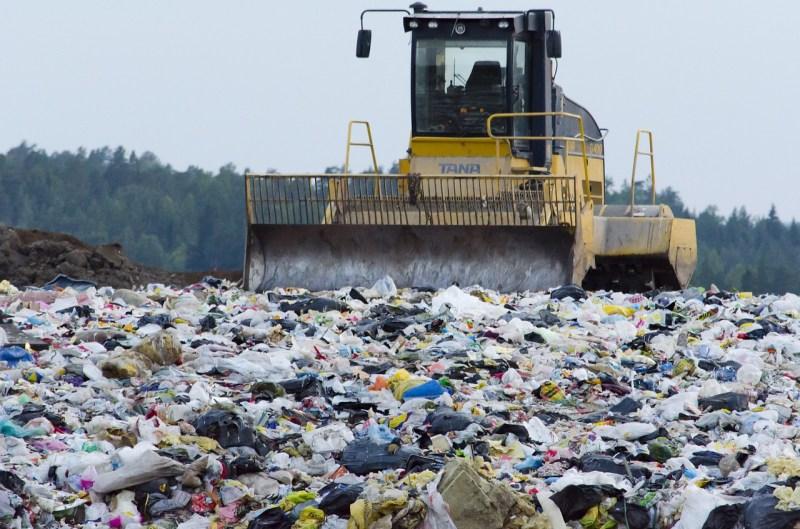 Landfill garbage dump
