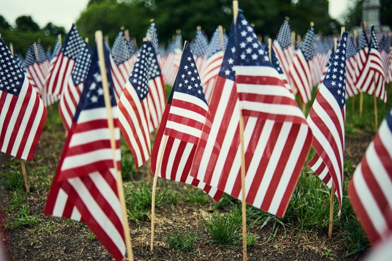 American-flags-small-lawn