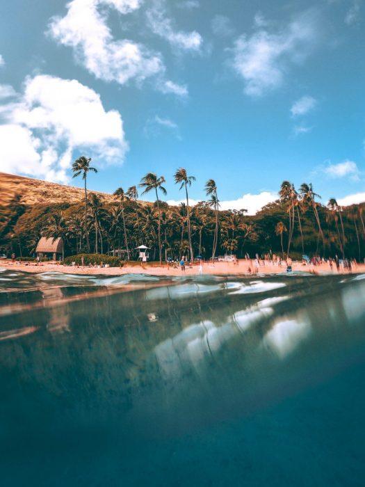 Hawaii beach hillside