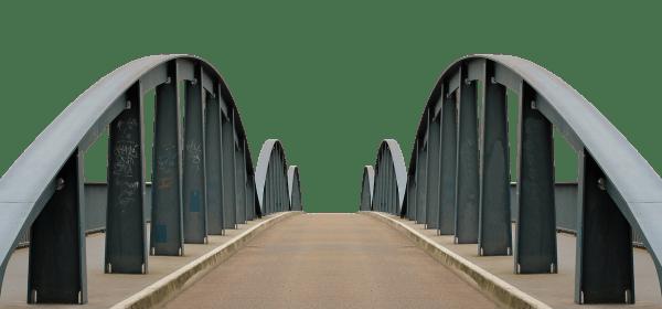 Road bridge iron railing