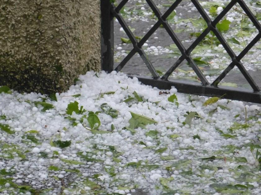 Hail storm accumulation