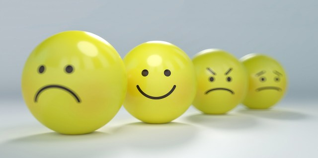 Round ball emoticons love hate happy angry