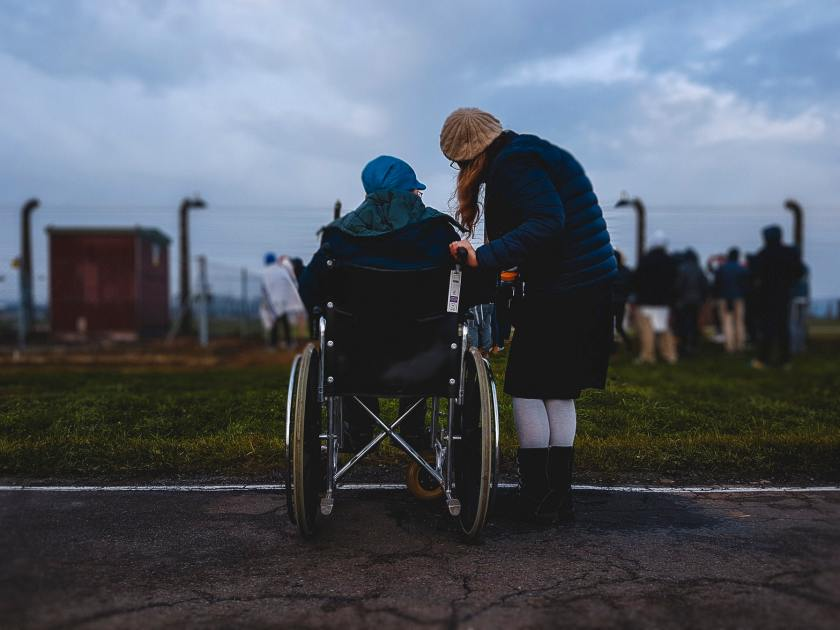 Disability person in wheelchair