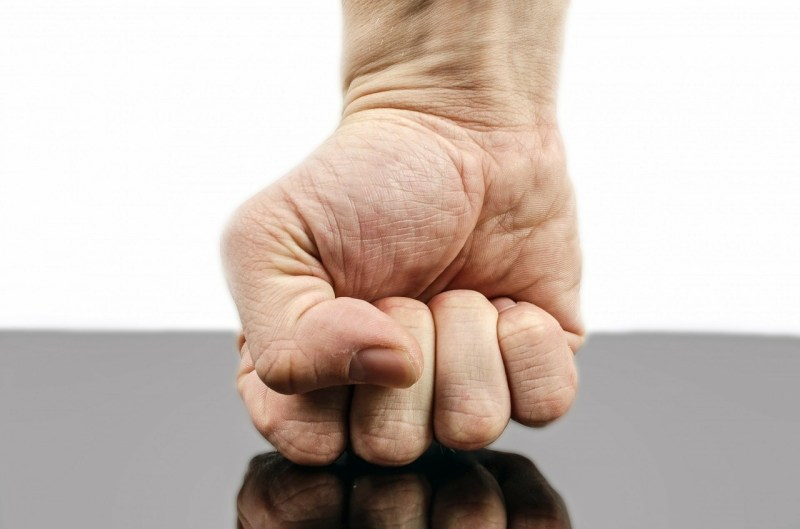 Punch fist human hand violence
