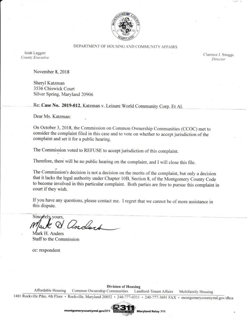 MD CCOC Anders letter to S Katzman JustUs