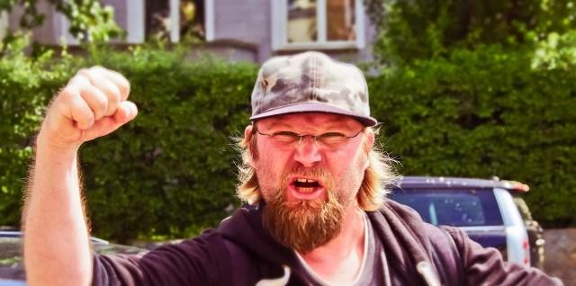 Bad neighbor mad bully fist angry