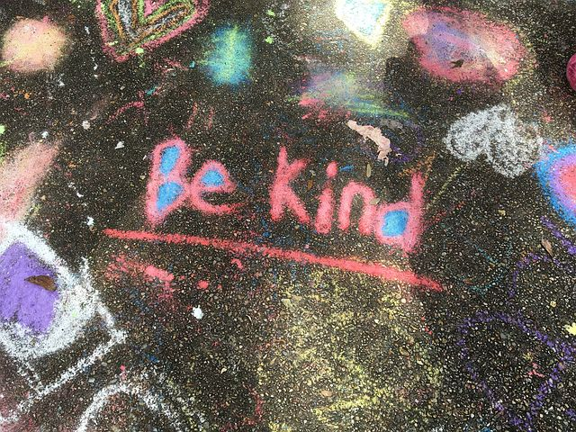 Be kind on chalkboard