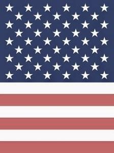 IAC American flag antiqued