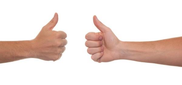 Good news thumbs up happy
