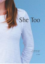 This is the book cover for R. Read's She Too and the featured image for the book review.