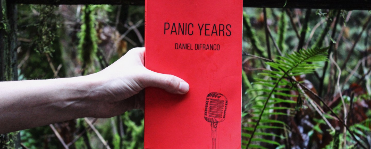 This is Independent Book Review's original image of the paperback of Daniel DiFranco's Panic Years.