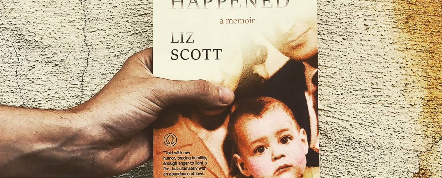 This is an Independent Book Review original photo of the paperback of This Never Happened by Liz Scott