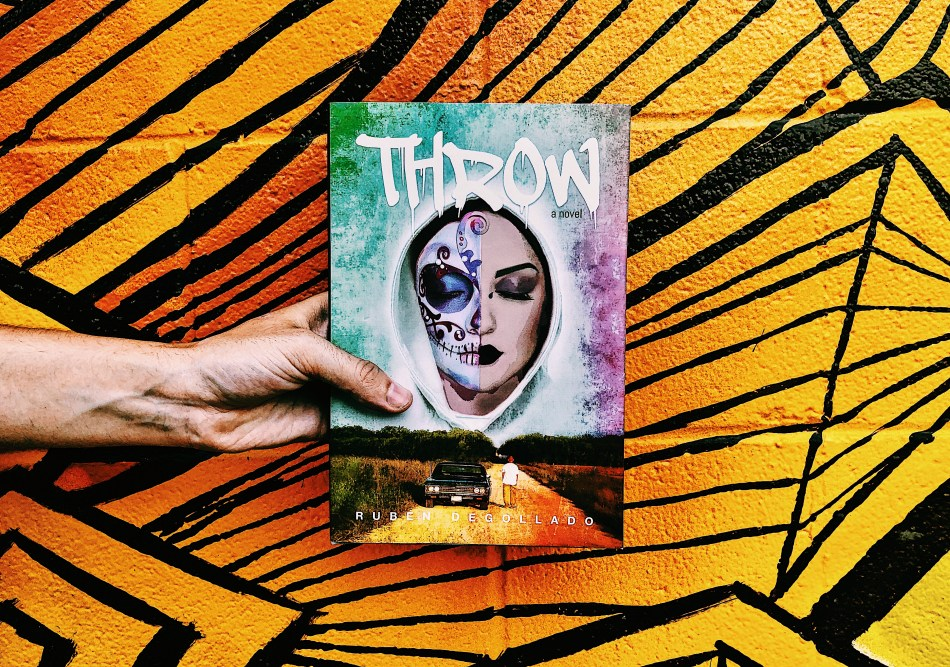 This is an Independent Book Review original photo of the hardback cover of Throw by Ruben Degollado.