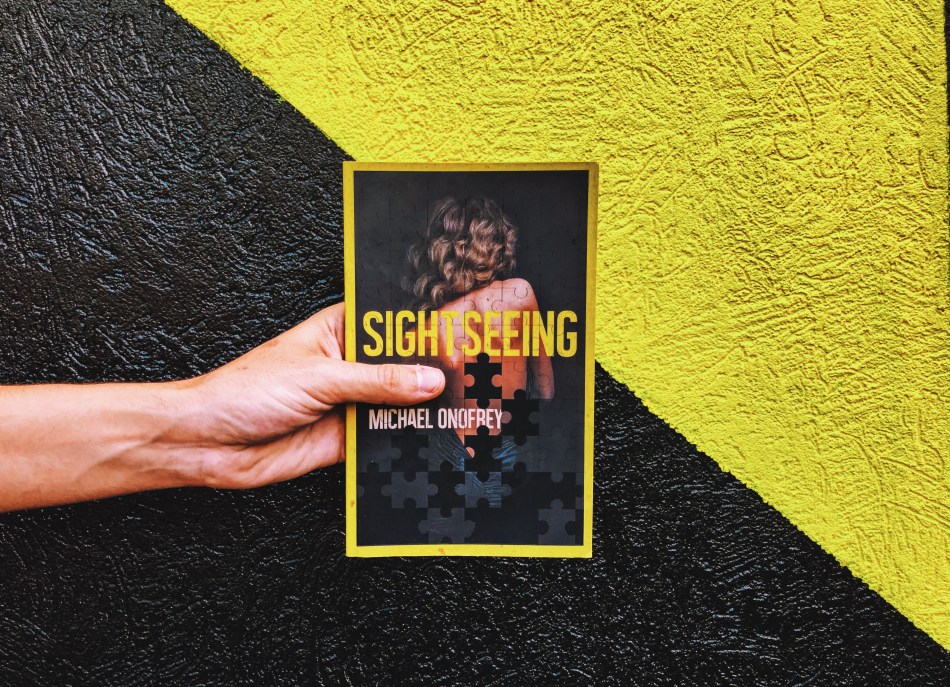 This is an Independent Book Review original photograph of the paperback of Sightseeing by Michael Onofrey.