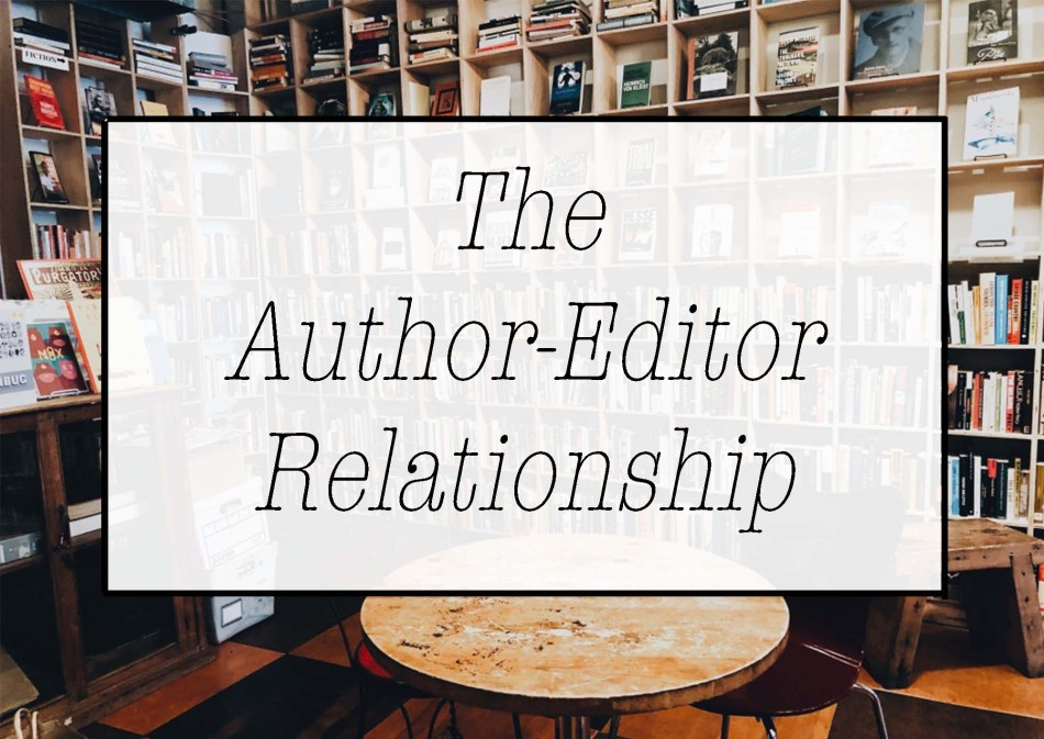 This is the blog photo for The Author-Editor Relationship by Sandra Y. Desjardins, for Independent Book Review