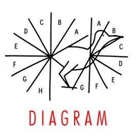 This is the logo for Diagram literary magazine