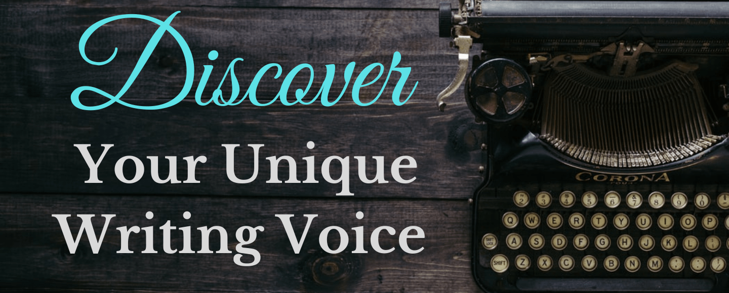 featured photo for Discover Your Unique Writing Voice, with a typewriter in the background