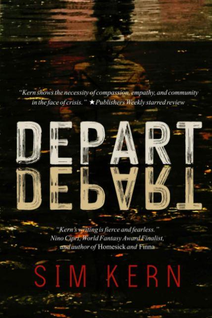 Depart, Depart by Sim Kern book cover for LGBTQ Book list