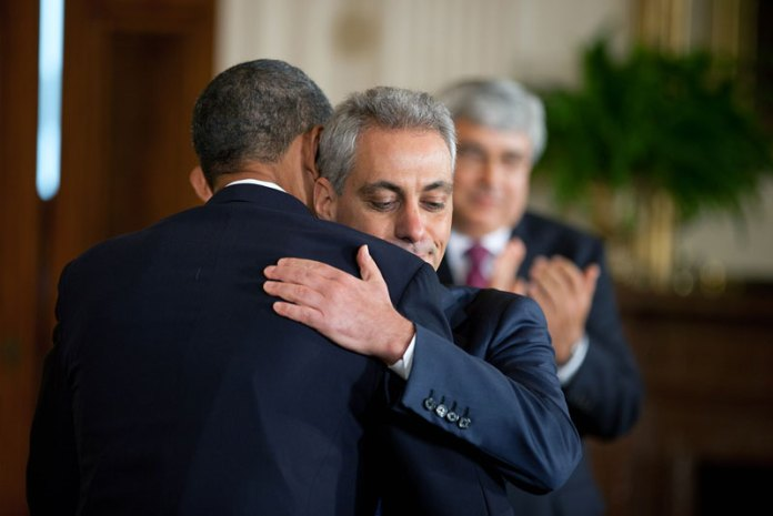 Rahm Embraces Barack