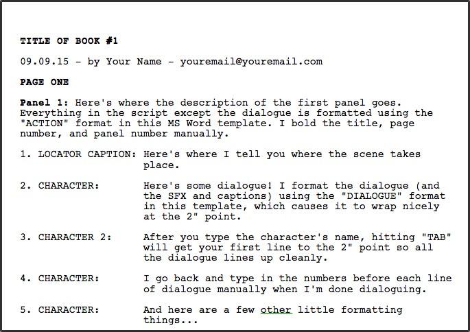 how to write a one shot comic