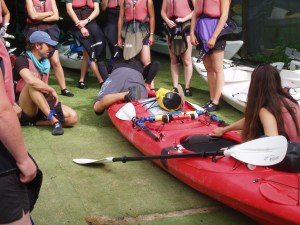 Kayak capsize recovery techniques