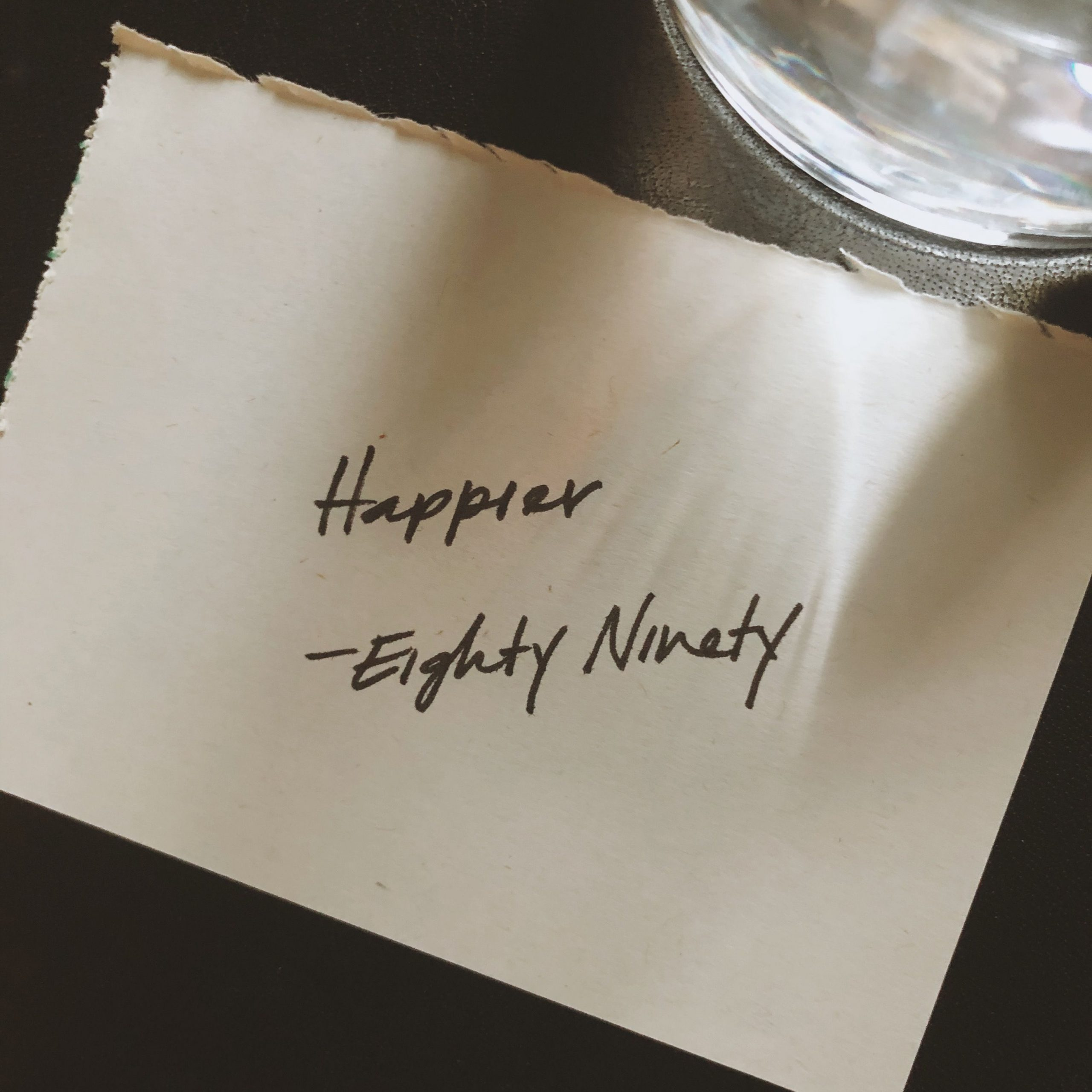 Happier by Eighty Ninety featured on IMR