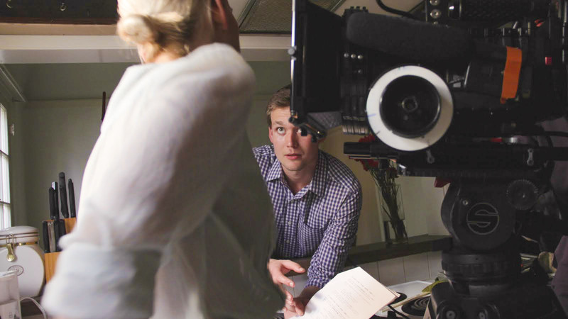 """David Leidy on the set of his previous film """"Atonia"""""""