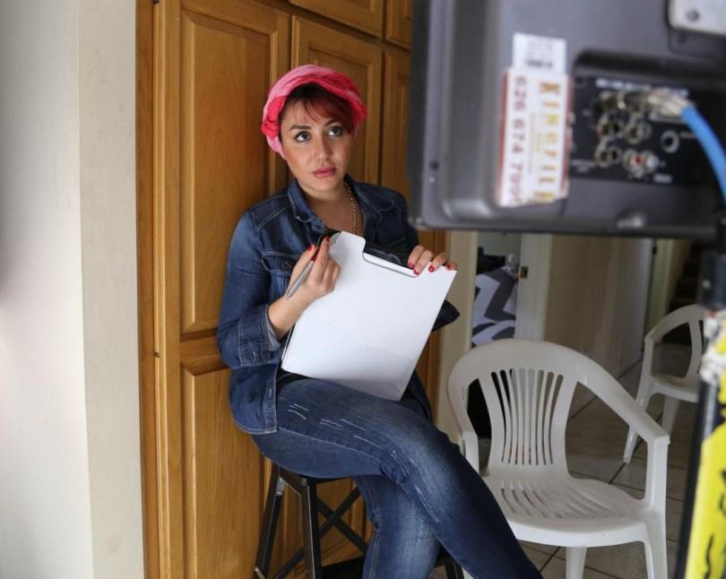 """Maryam Pirband on the set of """"Fermysk"""""""