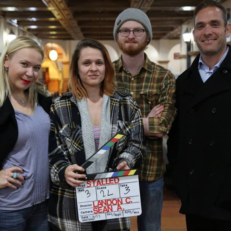 Lead actress Irina Kompa, producer Ashlee Sanchez, director Landon Coats and lead actor Jose Rosete