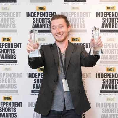 """Mathis Sananes, the director of """"About Emma"""", at the 2019 ISA Hollywood Annual Awards"""