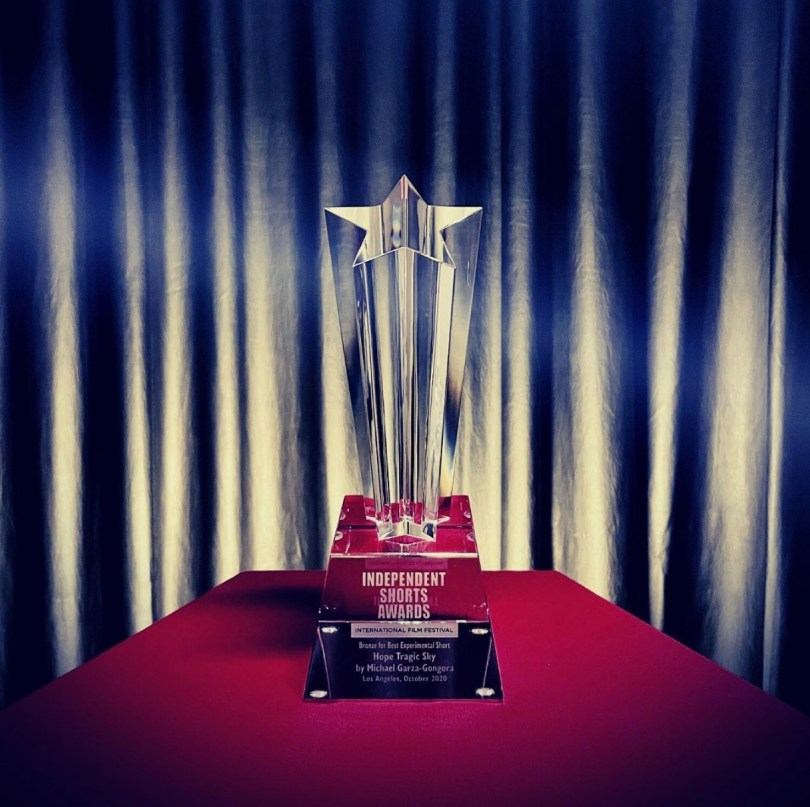 Independent Shorts Awards official trophy