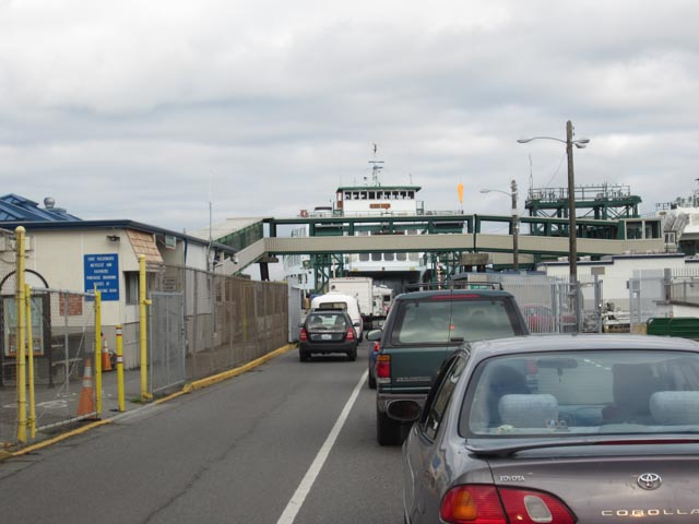 Boarding the ferry at Anacortes