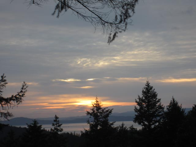Sunset over Canada from Young Hill, San Juan Island