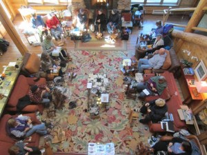 Retreat participants gathered in the Lakedale great room