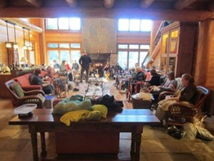 Great room at Lakedale, site of the Explore 4 Fiber Retreats.