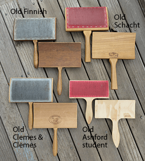 Four sets of hand carders